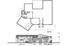 Floor plan of the house with elevation in dwg file
