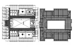 Floor plan of the laboratory with detail dimension in dwg file