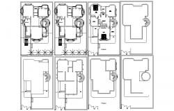 Floor plan of the residential house in autocad