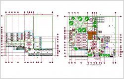 Floor plan view of hospital design dwg file