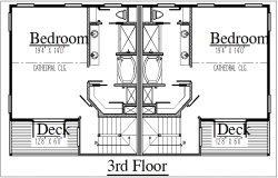 Floor plan view of house dwg file