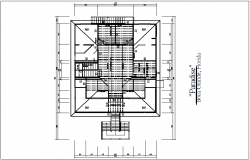 Floor plan view with column detail dwg file