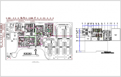 Floor plan with ceiling plan for hospital dwg file