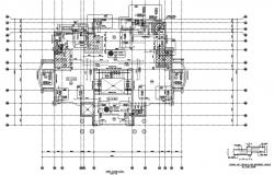 Floor plan with detail of  typical rft details for different levels at flat slab