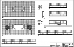 Floor plan with elevation and section view with mess area with structure view dwg file
