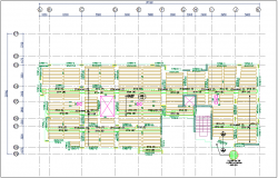 Floor plan with structural view dwg file