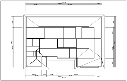 Floor roof of house detail plan view dwg file