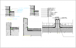Floor slab cross section view detail dwg file