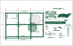 Floor slab structure detail and specifications detail view dwg file