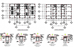 Floor structure with construction details of office dwg file
