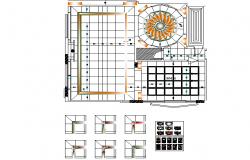 Flooring design detail dwg file