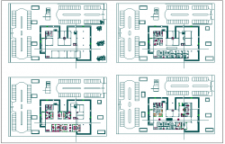 Flooring layout and architectural  design of office dwg file