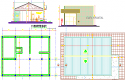 Flooring layout and elevation design of office dwg file
