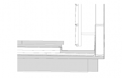 Flooring structure detail section 2d view layout autocad file