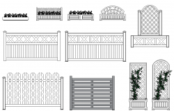 Flower bed and wooden frame dwg file