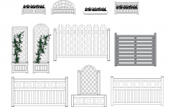Flower beds and Fence plan detail dwg.
