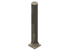 Fluted column detailing in 3d