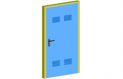 Foil door design view in 3d