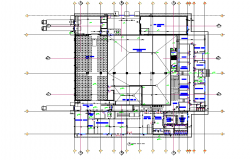 Food industrial plant factory plan detail dwg file