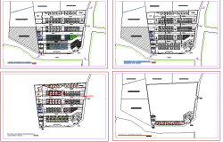 Food market floor plan architecture layout details dwg file