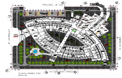 Food market plan autocad file