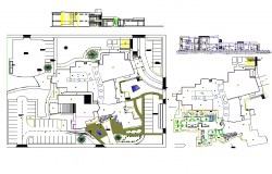 Food markets plan and elevation layout file