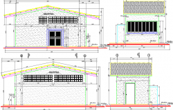 Food unit handler design and elevation dwg file
