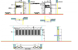 Food unit handler design constructive details dwg file