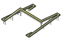 Foot-bridge design plan detail dwg file.