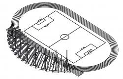 Football Playground CAD File