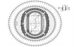 Football Stadium Plan AutoCAD File