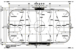 Football court plan detail dwg file