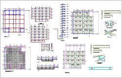 Footing and column structural view dwg file