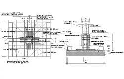 Footing Design CAD plan download