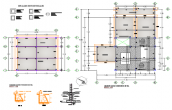 Footing plan and section layout file