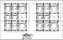 Footing plan detail dwg file