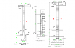 Footing section plan detail