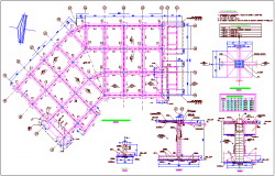 Footing view of foundation plan dwg file