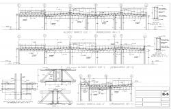 Forges square constructive detail plan detail dwg file.