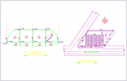 Forming and location plan of matters factory industrial plant view dwg file