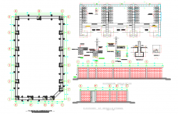 Foundation Plan and elevation detail dwg file,
