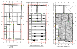 Foundation and beam plan detail dwg file
