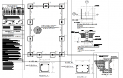 Foundation and column plan detail dwg file