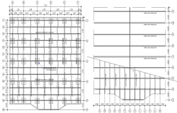 Foundation and roof plan detail dwg file