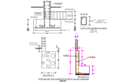 Foundation beam working plan detail dwg file