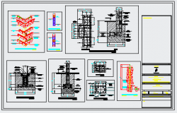 Foundation detail design drawing of industrial project