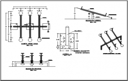 Foundation detail plan, elevation and section plan detail dwg