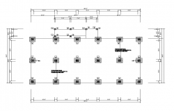 Foundation detail plan layout autocad file