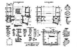 Foundation plan, framing plan and construction details dwg file