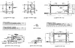 Foundation plan and Beam detail